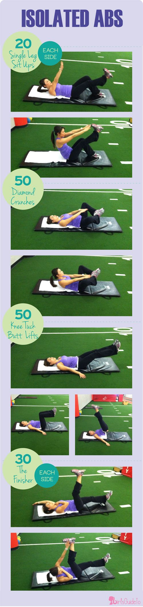 GirlsGuideTo | Workout Wednesday: Burn Belly Fat With This Hard CORE Workout | Isolated Abs