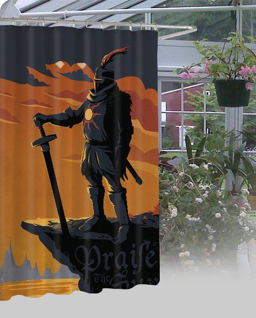 """New Dark Souls Solaire Of Astora High Quality Shower Curtain 60"""" x 72"""" #Unbranded #Modern"""