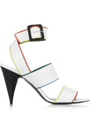 PIERRE HARDY WOMAN LABANDA LEATHER SANDALS WHITE. #pierrehardy #shoes #