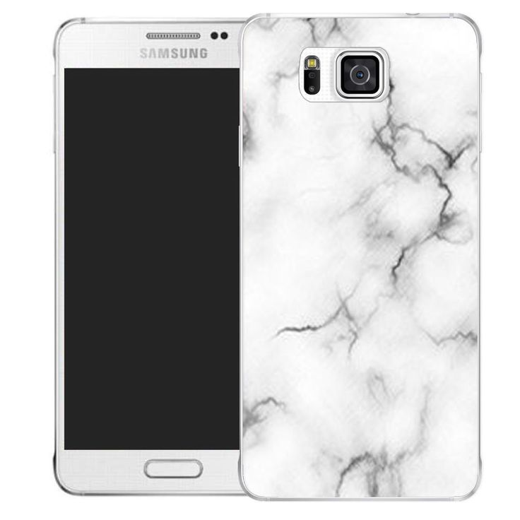 printed case cover for samsung galaxy alpha - marble effect