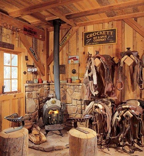 Cozy Western Tack Room