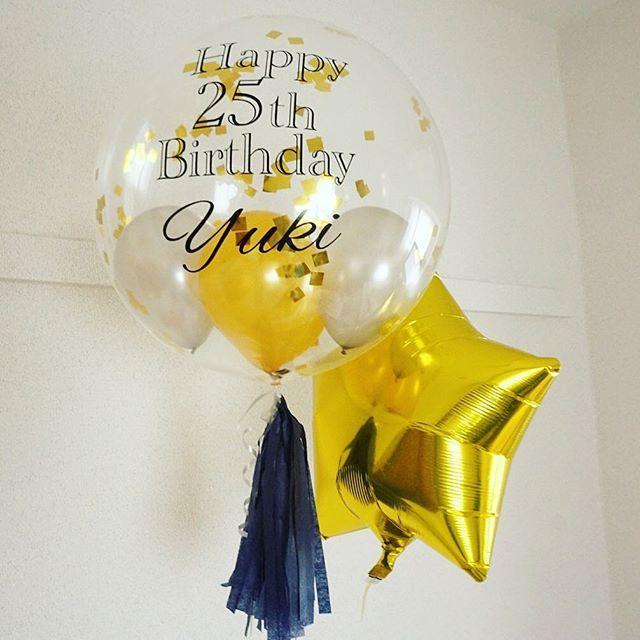 ギフトにはシンプルな組み合わせもおすすめです  #balloons #gift #bday #birthday #girlsbirthday #boysbirthday #foilballoon #fringeballoon #tassel #bigballoon #messageonballoons #theballtokyo  #文字入りバルーン#フリンジバルーン#誕生日#ギフト#バルーンパフェ