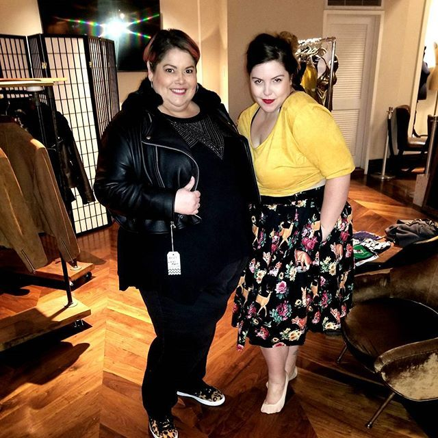@marylambertsing and I shopping at the #pluspop Plus Collective Holiday Pop-up shop at @thegregorynyc -- I'm wearing an @all67plus jacket in a size 28/30 (yassss!) and Mary is wearing a top and skirt from @plusbklyn -- holiday pop up store is open daily, M - F, 12 to 8pm and Sat 11 to 8 and Sun 12 to 7. So come visit if you're in the #nyc area! #celebratemysize #tcfstyle #effyourbeautystandards #daretowear #fabuplus #skorchmagazine #whatfatgirlsactuallywear #plussizefashion #goodtimes…