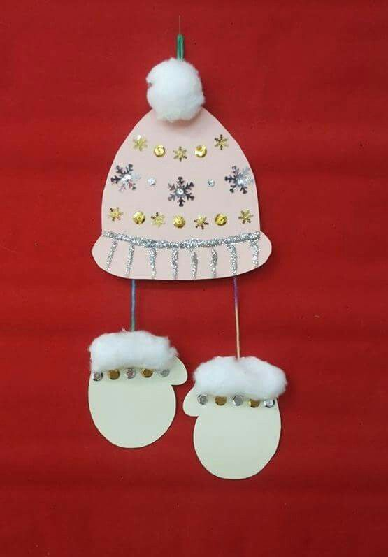 Σκουφάκι & γάντια χειμωνιάτικη κατασκευή / Winter hat & mittens craft