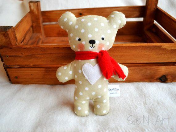 Stuffed Teddy Bear Fabric Teddy Bear Unisex Handmade Plush Cute CE marked Soft Toy Bear Plushie Textile Teddy Bear With Heart Stuffed Teddy