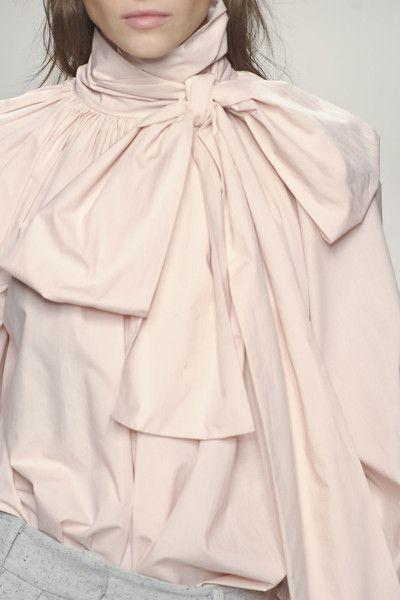 Nude bow blouse, chic fashion details // Blumarine Fall 2013