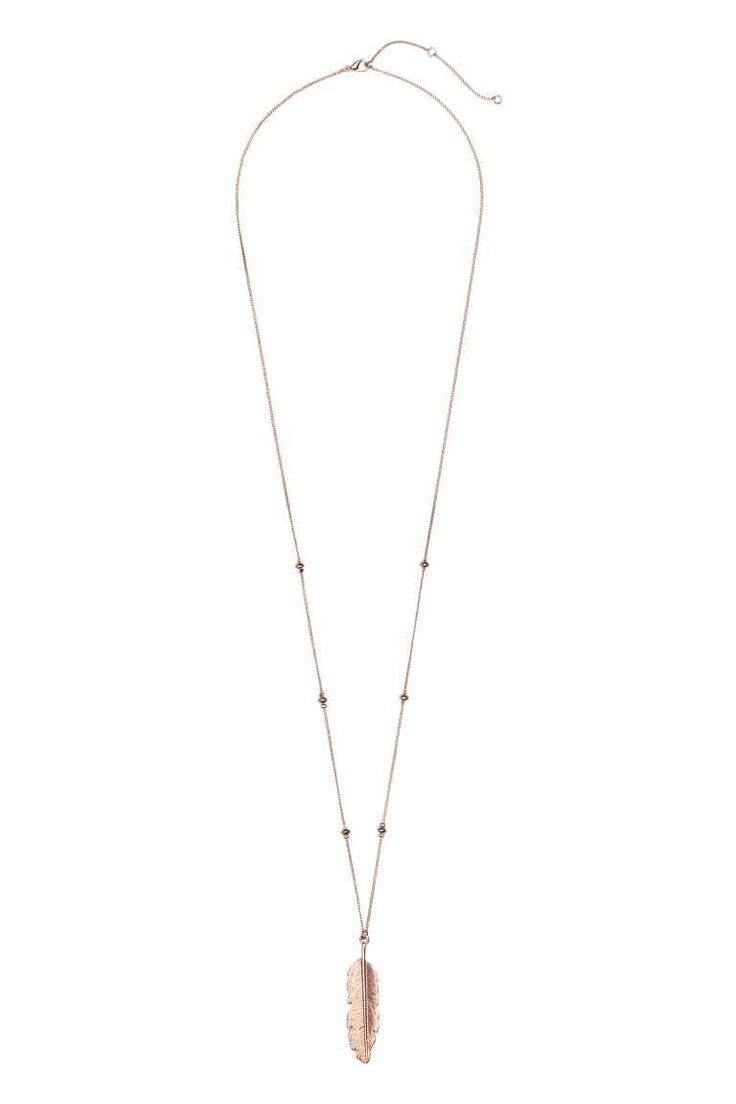 Long necklace with pendant - Rose gold - Ladies | H&M 1