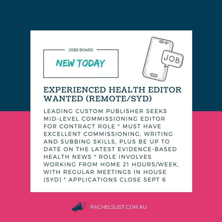 health writing jobs Natural health writer elevays llc published: august 7, 2018 we are looking for talented writers to write as ghost writers on our site you are the right candidate for this opportunity if you are.