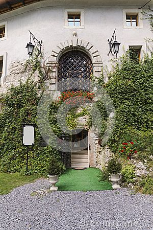 Entrance to castle in Korzkiew , Poland , Near Krakow.