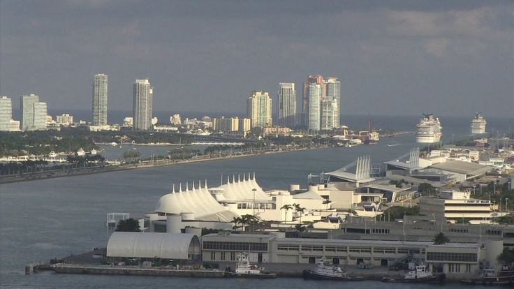 nice Cruise Ships Leaving Port of Miami Time Lapse