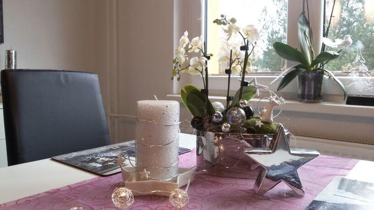 Vanocni dekorace na stul