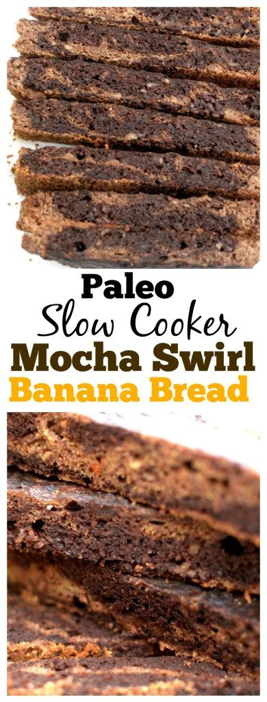Now you can have your coffee and eat it to with this Slow Cooker Paleo Banana Bread with a Mocha Swirl! Its also gluten-free and vegan-friendly!