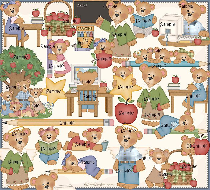 Craft Clipart 11: School bears