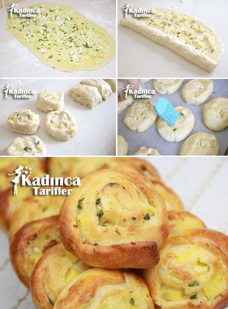 Peynirli Patatesli Rulo Poğaça Tarifi