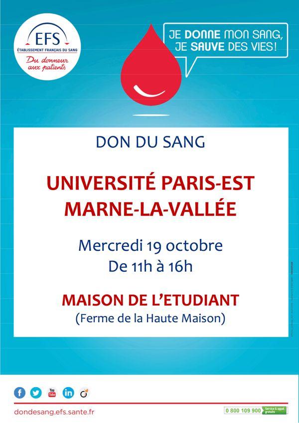 19/10/2016 : Don de sang