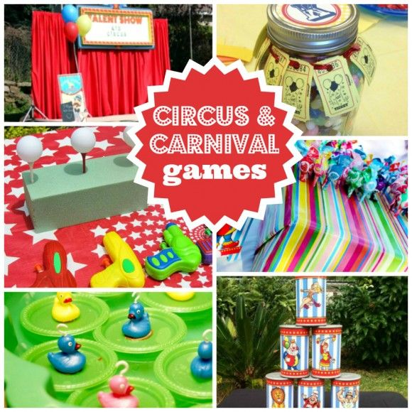Need traditional party game ideas for your circus or carnival party? Check these ideas out! | catchmyparty.com