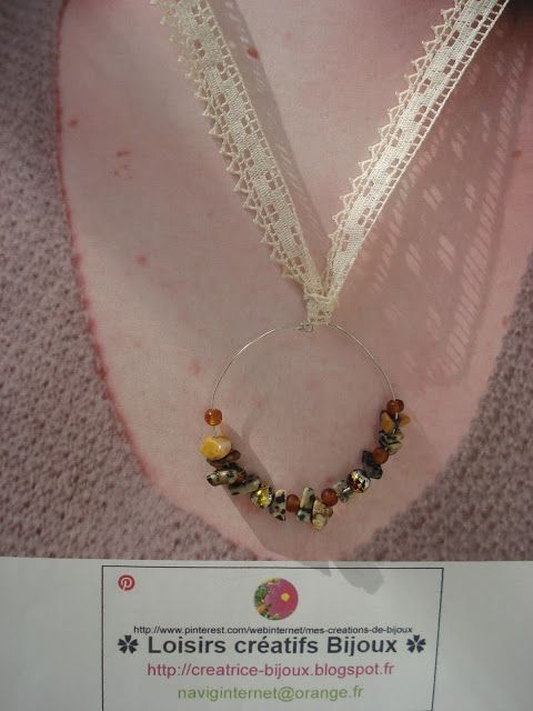 Créatrice de Bijoux Colliers Boucles d'oreilles Pendentifs Designer DIY [naviginternet@orange.fr] Créatrice de Bijoux MON BLOG : http://creatrice-bijoux.blogspot.fr naviginternet@orange.fr ✿ Loisirs créatifs Bijoux ✿ #Homemade #Handemade #Recycling #Jewelry #Colliers #Perles #bijoux #bijouxfantaisie #bijoufantaisie #créatricebijoux #collier #DIY #BIJOU #DESIGNER #creationbijoux #Colliers #DIY #Bijoux #Jewelry #Loisirscreatifs