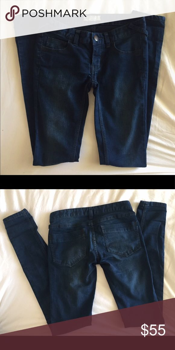 Free People Jeans! Worn only a few times.  Dark colored denim by Free People. Free People Jeans Skinny