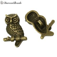 DoreenBeads Zinc Alloy Antique Bronze Single Hole Shank Button Metal Buttons Owl Elephant For Clothing DIY Craft, 2 PCs 2017 New(China (Mainland))