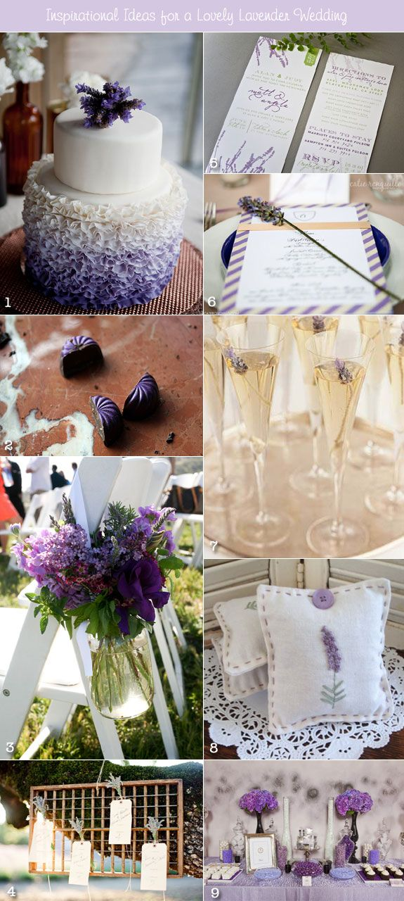 I normally don't like purple at all but I think shades of purple make great wedding colors.