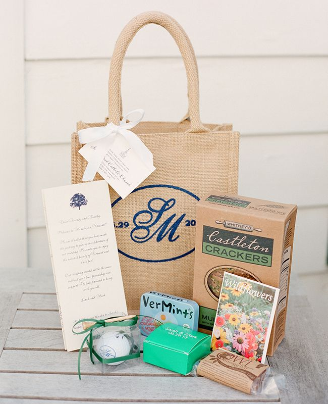 Destination Wedding Etiquette Gifts: Wedding Welcome Bags