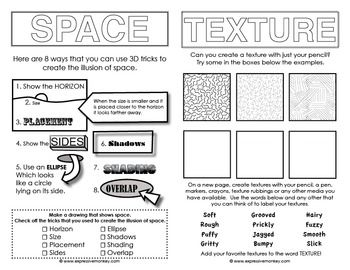 Printables Elements Of Art Worksheets 1000 ideas about elements of art space on pinterest sketchbook activities to introduce young artists some the
