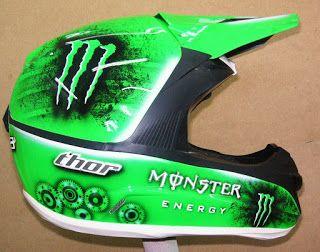 Hand Painted Thor Motocross Helmet #120 ~ Helmets4Fun - Hand Painted Helmets