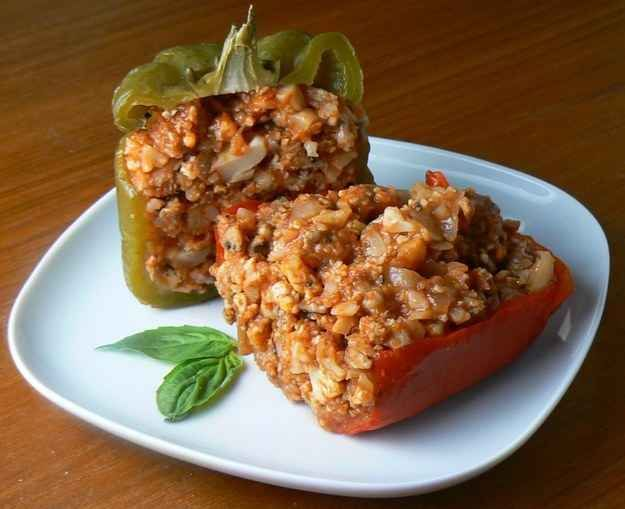 Low-Carb Sausage-Stuffed Peppers