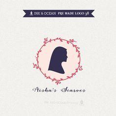 Boutique premade logo design for your business -  sewing, womens clothing, abaya, hijab, Islamic clothing, scarves, elegant logo