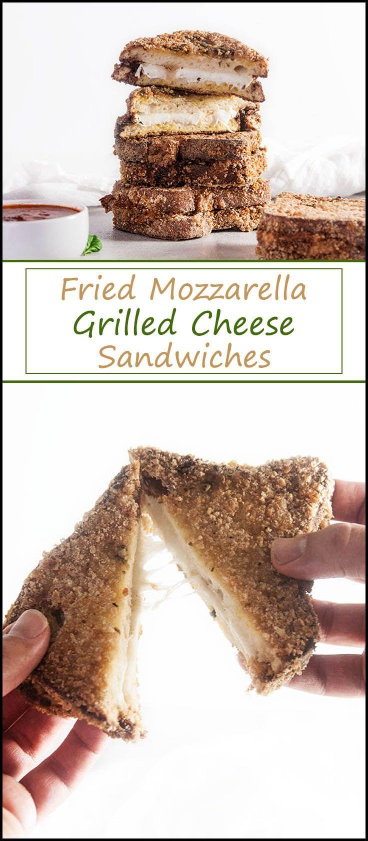 Fried Mozzarella Grilled Cheese from www.seasonedsprinkles.com
