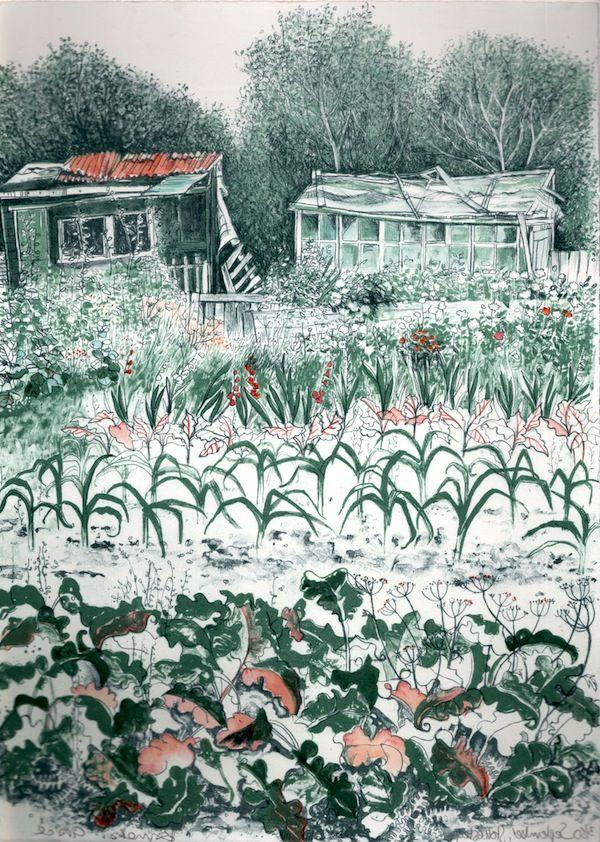 """""""September, Stokesley"""" by Pamela Grace (lithograph)"""