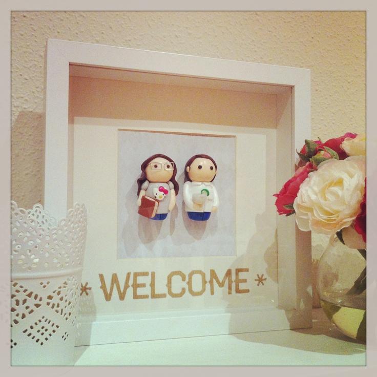 Un cuadro DIY con nuestros babos para dar la bienvenida!!