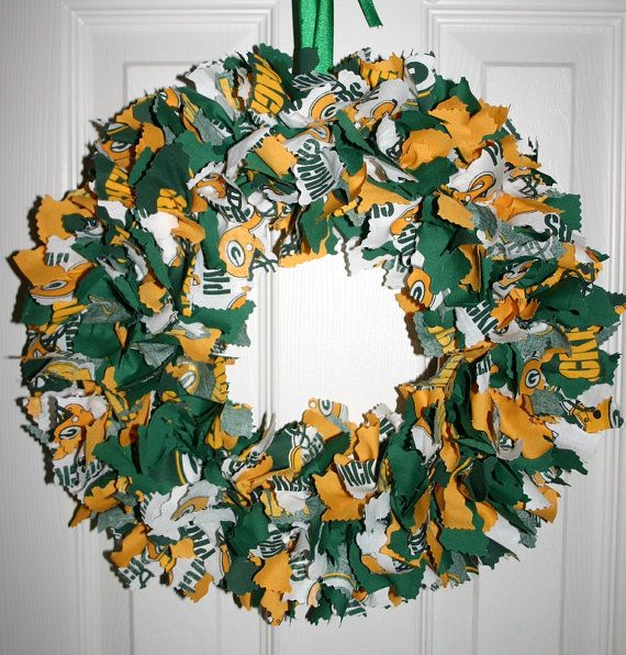 Green Bay Packers Team Rag Fabric Wreath Fabric wreath