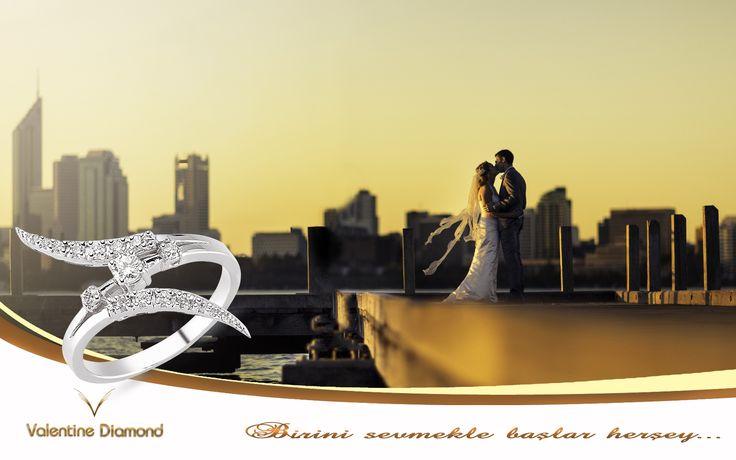 Birini sevmekle başlar herşey - #love #happy #ring #yuzuk #diamond #pirlanta #marry #wedding #fiance #weddingring #jewelry #kolye #necklace #bracelet # #istanbul #amazing #girl #women #style #design #engagement #white #luxury