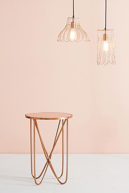 Anthropologie Derrington Slim Side Table, pink, pink things, pink color, light pink, dark pink, pink aesthetic, pink decor ( affiliate )