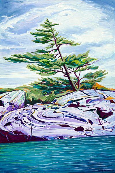 """""""Rockfold, Georgian Bay"""" by Margarethe Vanderpas"""
