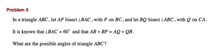 Looking for a challenge? Try this question from the 42nd International Math Olympiad.