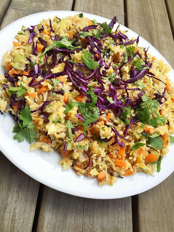 Fried Rice med rödkål