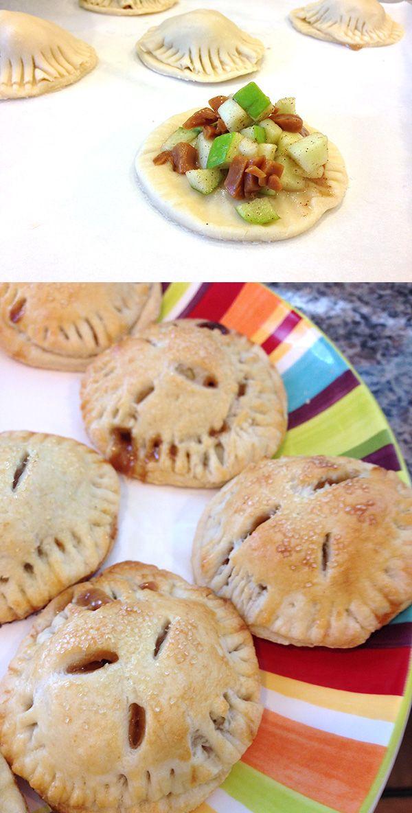 Mini Carmel Apple Pies #dessert #recipe