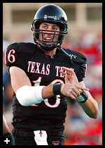 Kingsbury help the Red Raiders to win against state rivals, Texas in November 16, 2002. Texas Tech 38 - Texas 38