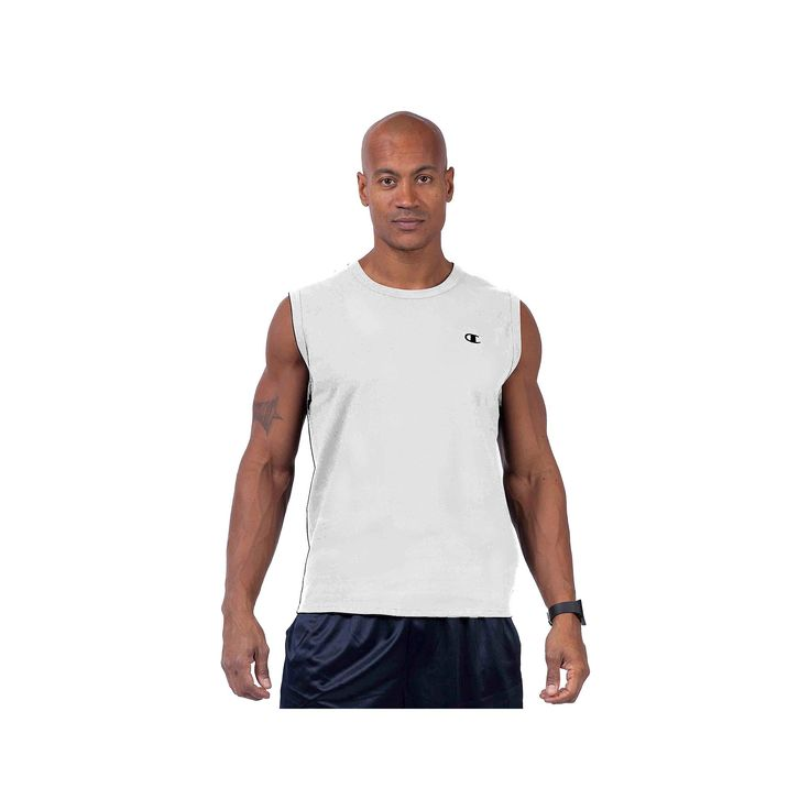 Big & Tall Champion Solid Muscle Tee, Men's, Size: Xl Tall, White