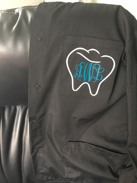 Scrub Jacket, custom colors and personalized monogram for nurse, doctor, dentist, vet, medical student, graduation, cosmetology, healthcare.