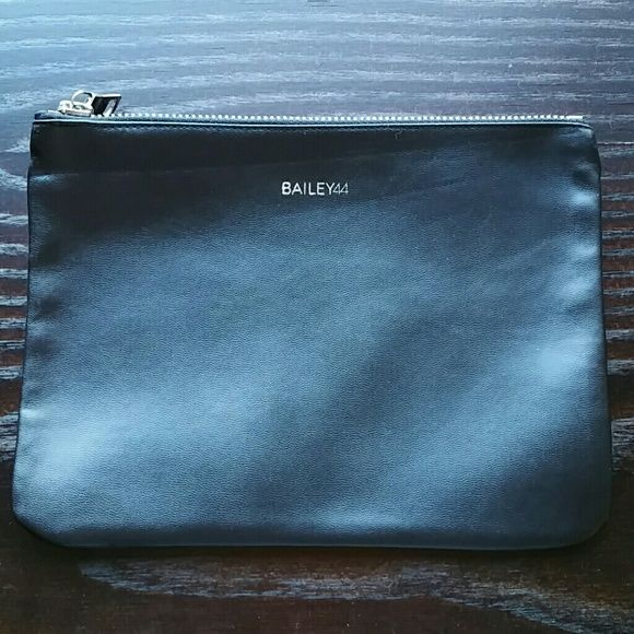 """Bailey 44 Eco Leather Zip Clutch Brand new, never used. 9"""" x 6.5"""" Eco Leather is easy to clean Bailey 44 Bags Cosmetic Bags & Cases"""