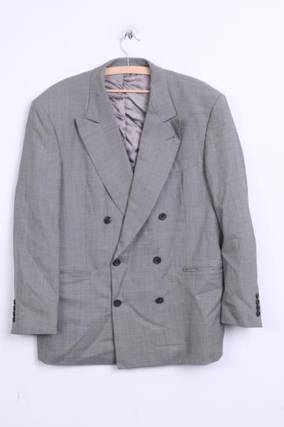 Tindari Ermenegildo Zegna Mens 25 XL Suit Grey Trousers and Blazer Wool Elegant - RetrospectClothes