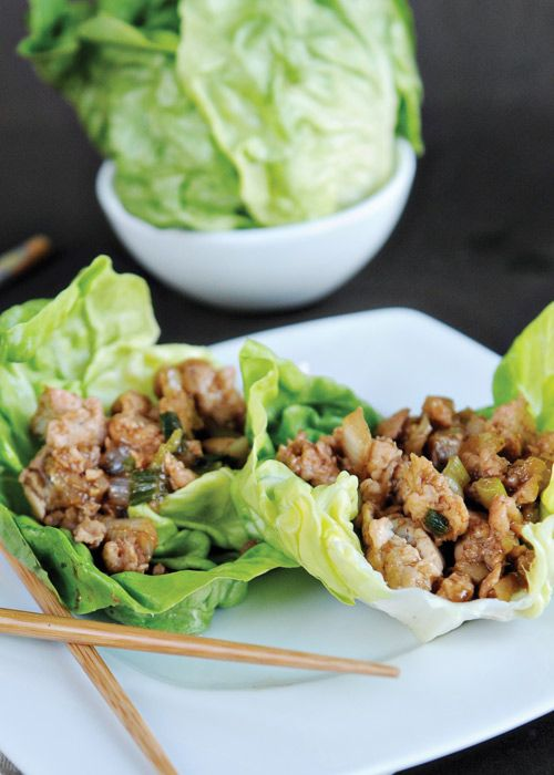 Ground Chicken Lettuce Wraps at CafeTecumseh.com