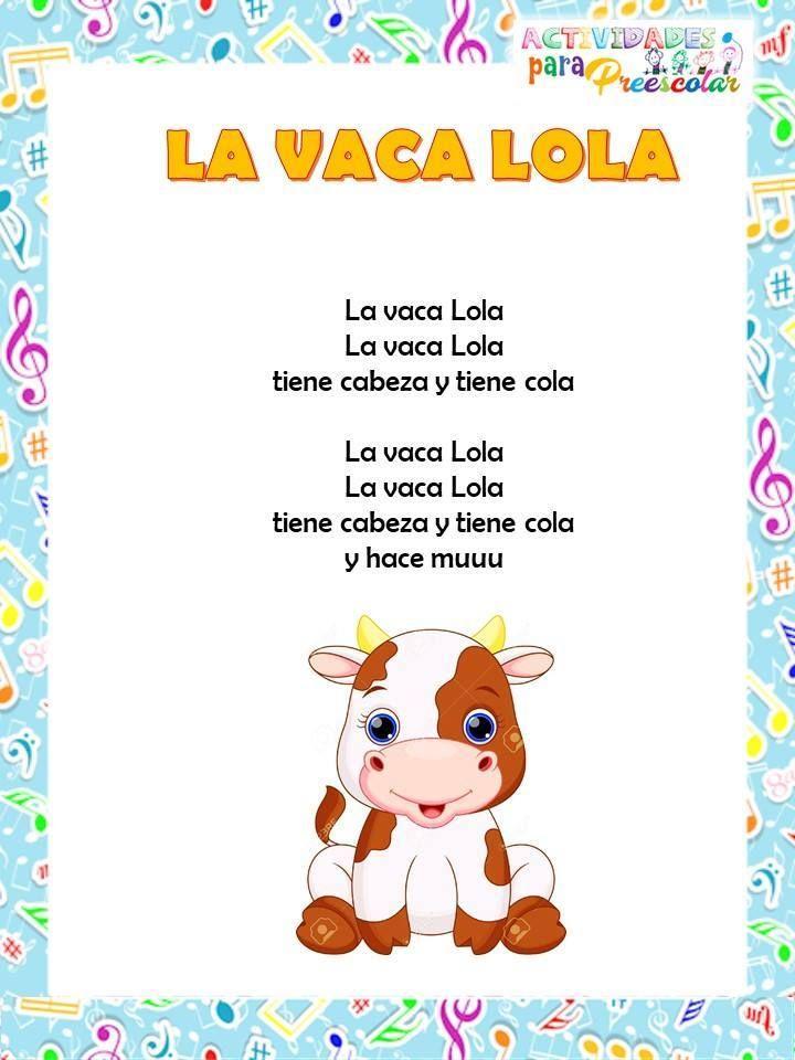 Canciones De Actividades Paa Preescolar 2 Canciones Infantiles Letras De Canciones Infantiles Poemas Infantiles