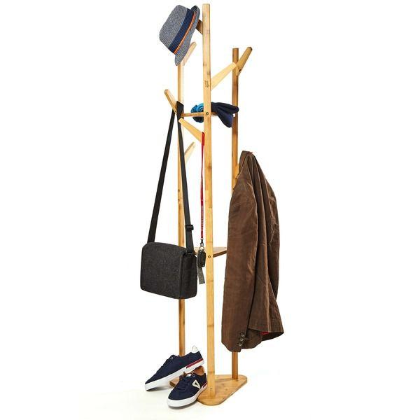 Bambuswald Kleiderstander Bambus 170x40x30cm Mit Ablageregalen Garderobenstander In 2020 Kleiderstander Garderobe Stander Und Bambus