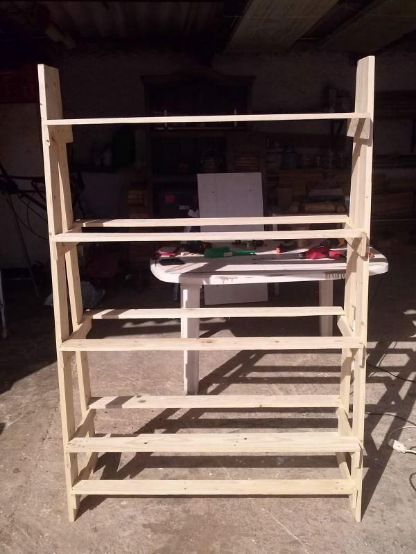 Pallet Bookcase Bookcases & Bookshelves Shelves & Coat Hangers