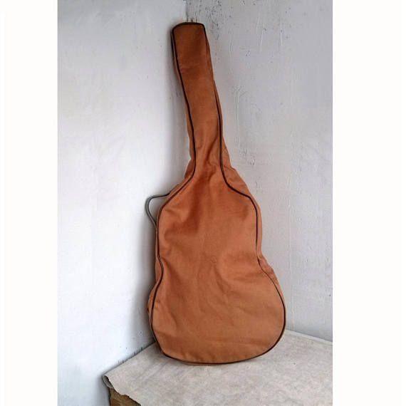 Vintage Brown Guitar Case Old Soft Guitar Bag Music Instrument Storage Gift Idea Unbranded Guitar Bag Vintage Guitars Classic Guitar