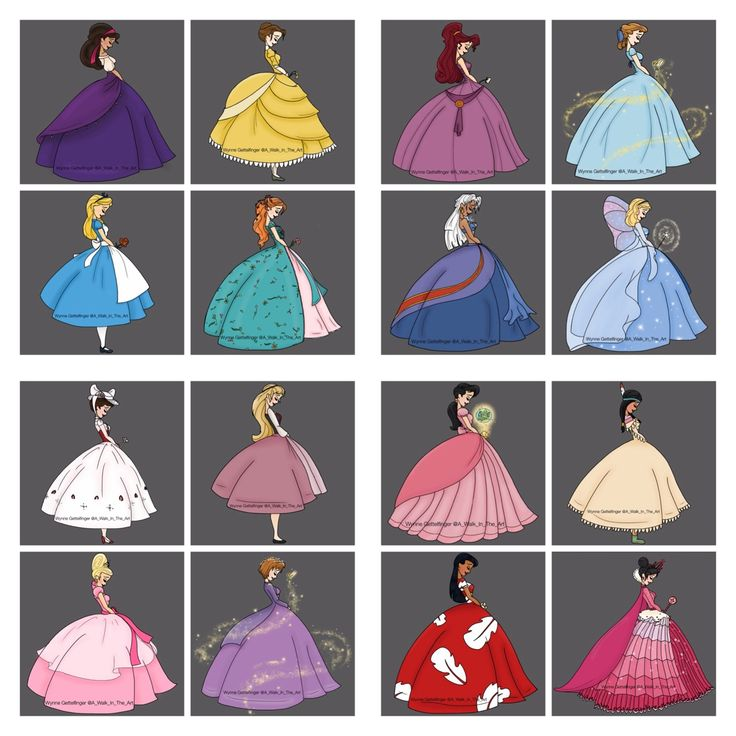 The princesses of Disney
